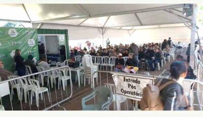 Nem chuva e frio afastam população da Caravana; programa termina com mais de 10 mil consultas