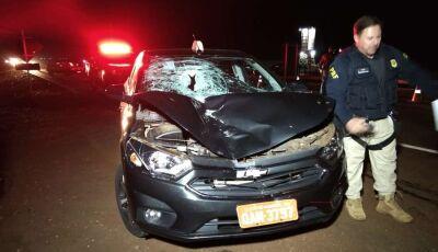 Mulher é atropelada e morre ao tentar atravessa a BR-163 em Dourados