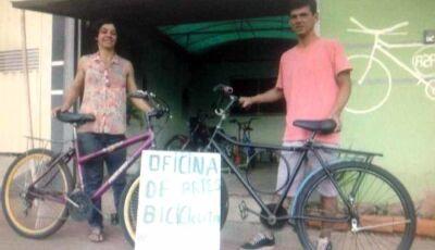 #CG120: Desempregado, mas com coração voluntário, ele reforma bicicletas com peças do lixo
