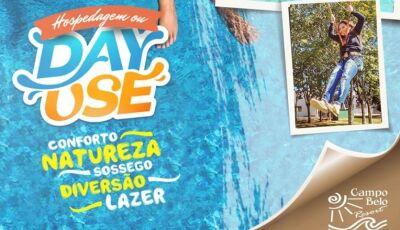 No Campo Belo Resort você pode garantir um pacote de hospedagem ou Day Use, Confira