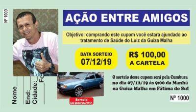 Familia realiza rifa para tratamento do Luiz Guiza Malha de Fátima do Sul