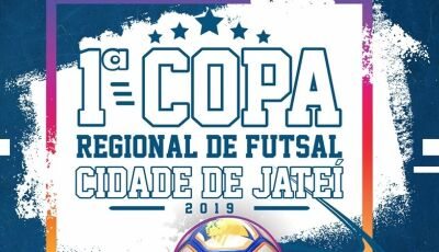 Com R$ 6 mil em premiação, vem aí a 1ª Copa Regional de Futsal Cidade de Jateí