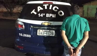Traficante de Glória de Dourados é preso pela Força Tática em Fátima do Sul
