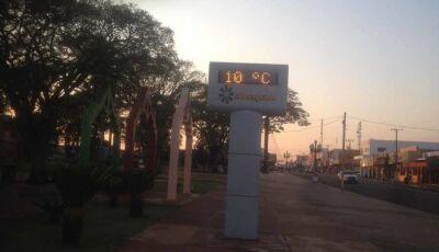 Fátima do Sul teve madrugada fria e a temperatura volta a subir nesta quarta feira