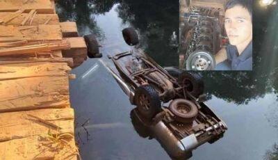 Veículo cai de ponte e condutor de 29 anos morre afogado em Bonito