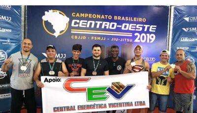 Jiu Jitsu de Fátima do Sul e Vicentina, tem Record de medalhas no Brasileiro Centro Oeste