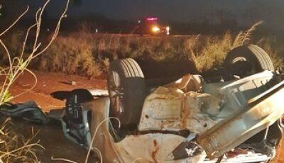 Carro capota após atropelar capivara e duas mulheres morrem em Sidrolândia