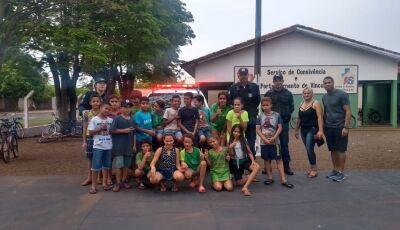 Policia Militar promove Ação Educativa para crianças no Distrito de Culturama