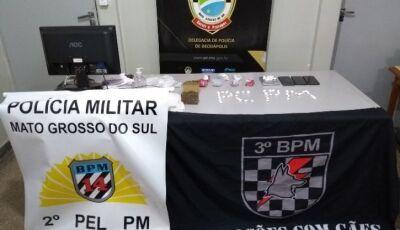 Operação contra o tráfico de drogas tem apreensões de cocaína e maconha em Deodápolis