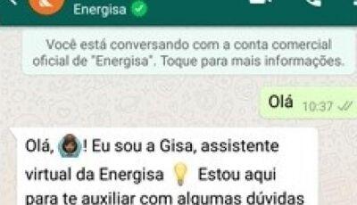 Por WhatsApp, cliente da Energisa poderá pedir 2ª via ou religação