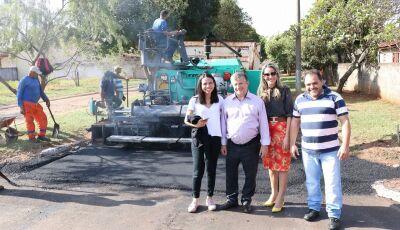 Prefeitura inicia asfalto em diversas ruas, serão cerca de R$ 600 mil com recursos próprios em Jateí