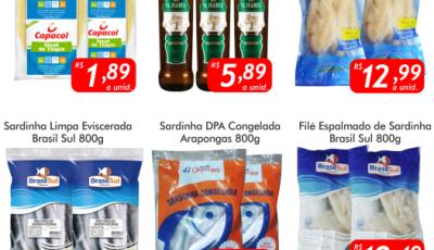 Confira as ofertas da SEXTA DO PEIXE e logo mais SEXTA DO CHOPP no Mercado Julifran em Fátima do Sul