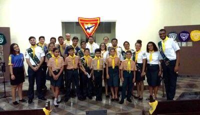 Veja as fotos da Cerimônia do Clube de Desbravadores Maranata na IASD de Fátima do Sul