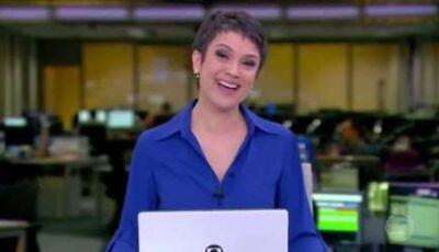 Sandra Annenberg chora em despedida do 'Jornal Hoje' e comove a web