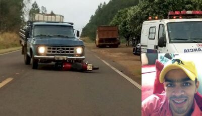 DEODÁPOLIS: Motociclista de Ivinhema morre após acidente na MS-145