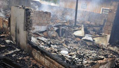 Glória de Dourados: Vítima de incêndio tem queimaduras de 1º e 2º grau será transferido para Capital
