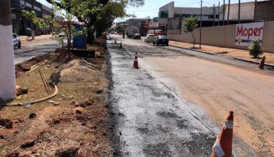 Governo inicia revitalização da avenida Hayel Bon Faker em Dourados
