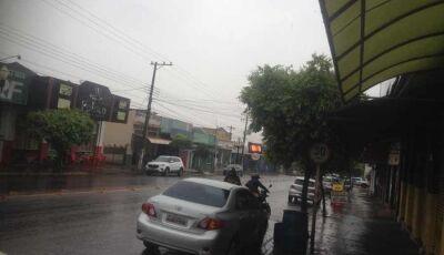 Chuva derruba a temperatura em Fátima do Sul