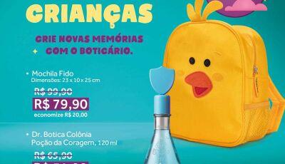 O Boticário reservou promoções e preços especiais para semana do Dia das Crianças em Fátima do Sul