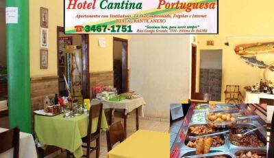 Refeição por apenas R$ 18,00 é no Hotel Cantina Portuguesa em Fátima do Sul