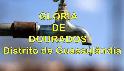Prefeitura deixa população do distrito de Guassulândia sem água desde domingo em Glória de Dourados
