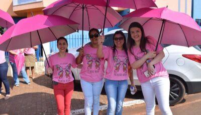 Confira as FOTOS da Caminhada de abertura da Campanha Outubro Rosa em VICENTINA