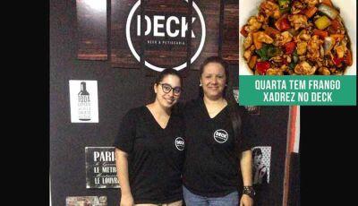 Nesta quarta feira tem Frango Xadrez no Deck Beer & Petiscaria em Fátima do Sul