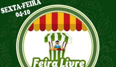 Hoje tem Feira Livre com produtos da agricultura familiar, gastronomia e artesanato em Vicentina