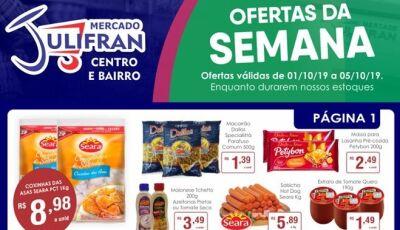 Confira as ofertas da SEMANA e a QUARTA VERDE do Mercado Julifran em Fátima do Sul