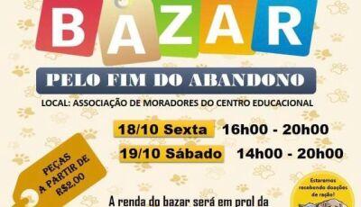 Bazar em prol da Ong Pelo Fim do Abandono acontece nesta sexta e sábado em Fátima do Sul