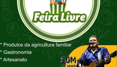 Hoje tem 'Feira Livre' com música Ao Vivo em Vicentina