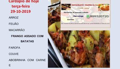 Disk Marmitex a R$ 10,00 é no Restaurante Tempero & Cia em Fátima do Sul