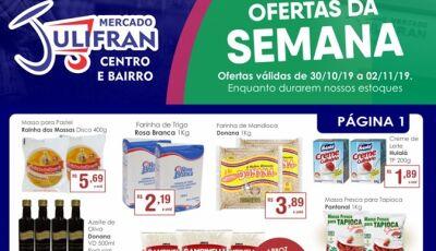 Hoje tem QUARTA VERDE e as ofertas da SEMANA que vão até sábado no Mercado Julifran em Fátima do Sul