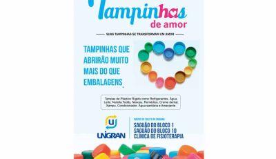 UNIGRAN apoia campanha Tampinhas de Amor do Hospital de Amor