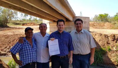 Para Renato Câmara, nova ponte sobre Rio Pirajuí vai acelerar desenvolvimento de Glória de Dourados
