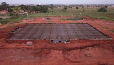 Sanesul inicia obras complementares para ativar super-reservatório de 4 milhões de litros de água