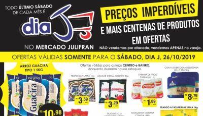 Neste sábado tem Dia 'J' com tudo abaixo do preço no Mercado Julifran em Fátima do Sul