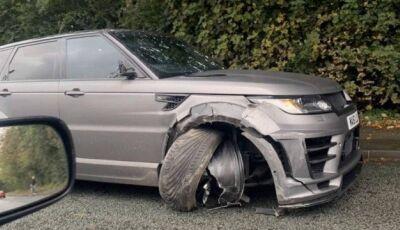 Agüero sofre acidente com carro de R$ 428 mil a caminho do treino do Manchester City