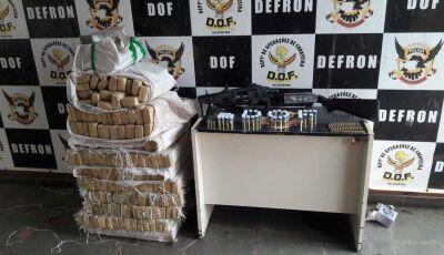 CULTURAMA: DOF recupera veículo carregado com mais de 200 quilos de maconha, arma de fogo e munições