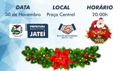 Jateí acende as luzes natalinas neste sábado, premiação este anos será de R$ 5.600,00