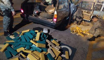 Durante ação em bairro, PM apreende mais de 200kg de maconha em Dourados