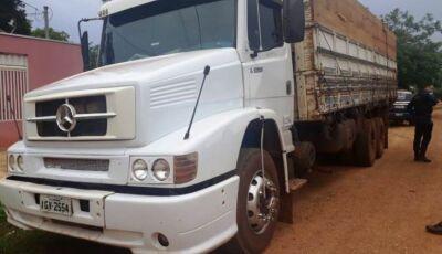 DEODÁPOLIS: Polícia Militar encontra caminhão roubado a mão armada