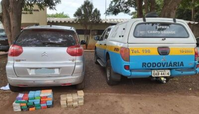 DEODÁPOLIS: PMR apreende mais de R$ 1 milhão de reais em cocaína e pasta base em veículo