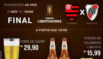 Restaurante Julifran vai ter Flamengo e River Ao Vivo com promoção de chopp em Fátima do Sul