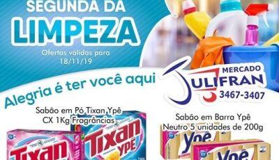 SEGUNDA DA LIMPEZA é no Mercado Julifran, confira as ofertas em Fátima do Sul