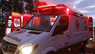 Motorista invade pista contrária, bate em caminhão boiadeiro e morre na BR-262