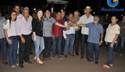 Marquinhos do Dedé realiza entrega de patrulha mecanizada durante Feira Livre em Vicentina