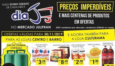 Com gás à R$ 58,90, HOJE tem Dia 'J' com TUDO abaixo do preço no Mercado Julifran de Fátima do Sul