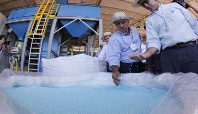 Com apoio do Governo do Estado, Rio Brilhante recebe fábrica de fertilizantes de R$ 25 milhões