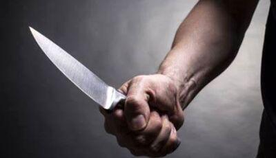 Homem com faca ameaça pessoas em lanchonete, se esconde em prédio e é preso pela PM em Jateí